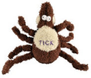 Large Plush Tick Dog Toy, 12""