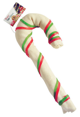 Large & Super Size Rawhide Candy Canes
