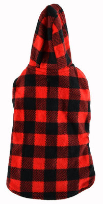 Large, Plaid Trim Dog Coat