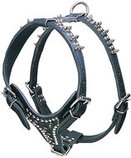 Latigo Leather Harnesses, Large Spikes & Studs