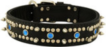 Latigo Protector Spiked, Studded & Jeweled Collar