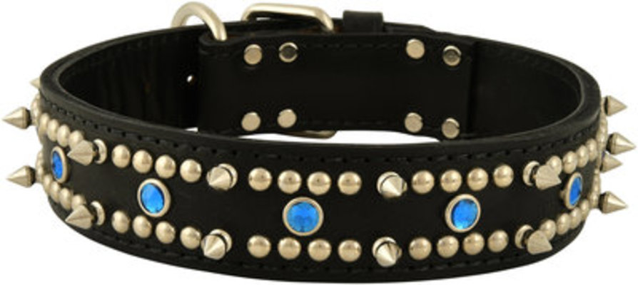 "Latigo Protector™ Blue Jewel Collars, 1-1/2"" x 21"""