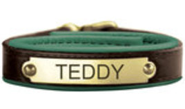 Leather Comfort Bracelet with Nameplate
