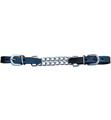 Leather Double Chain Curb Strap