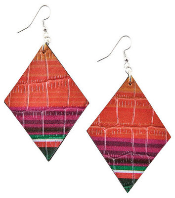 Leather Serape Diamond Earrings