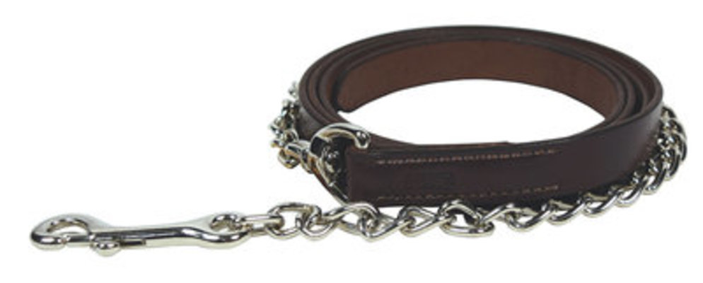 "Leather Show Lead with 24"" Chain"