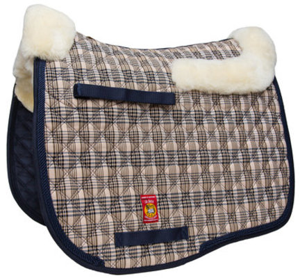 Lettia Baker Plaid Sheepskin Dressage Pad