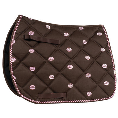 Chocolate A/P Saddle Pad w/ Live Simply