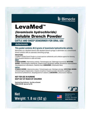 LevaMed Soluble Drench Powder Dewormer, 52 gram