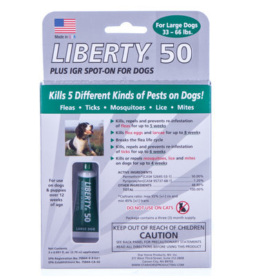 Liberty 50 Plus IGR, 33-66 lb (3 month supply)