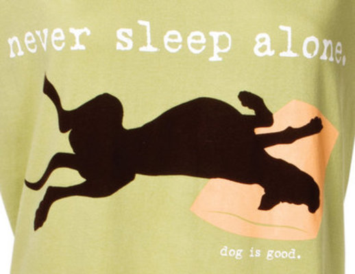 Never Sleep Alone Sleep Shirt, Lt. Green