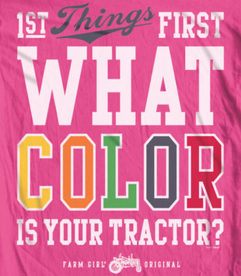 What Color Tractor Fitted Tee