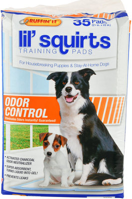 Lil' Squirts Training Pads with Activated Charcoal