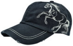 """Lila"" Galloping Horse Embroidered Caps"