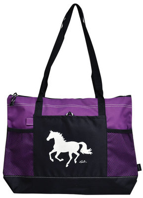 """""""Lila"""" Galloping Horse Tote Bags"""