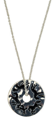 Lila Running Horses Disc Necklace