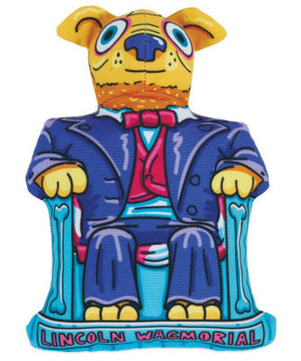 Lincoln Wagmorial Fat Cat Monumutts Dog Toy