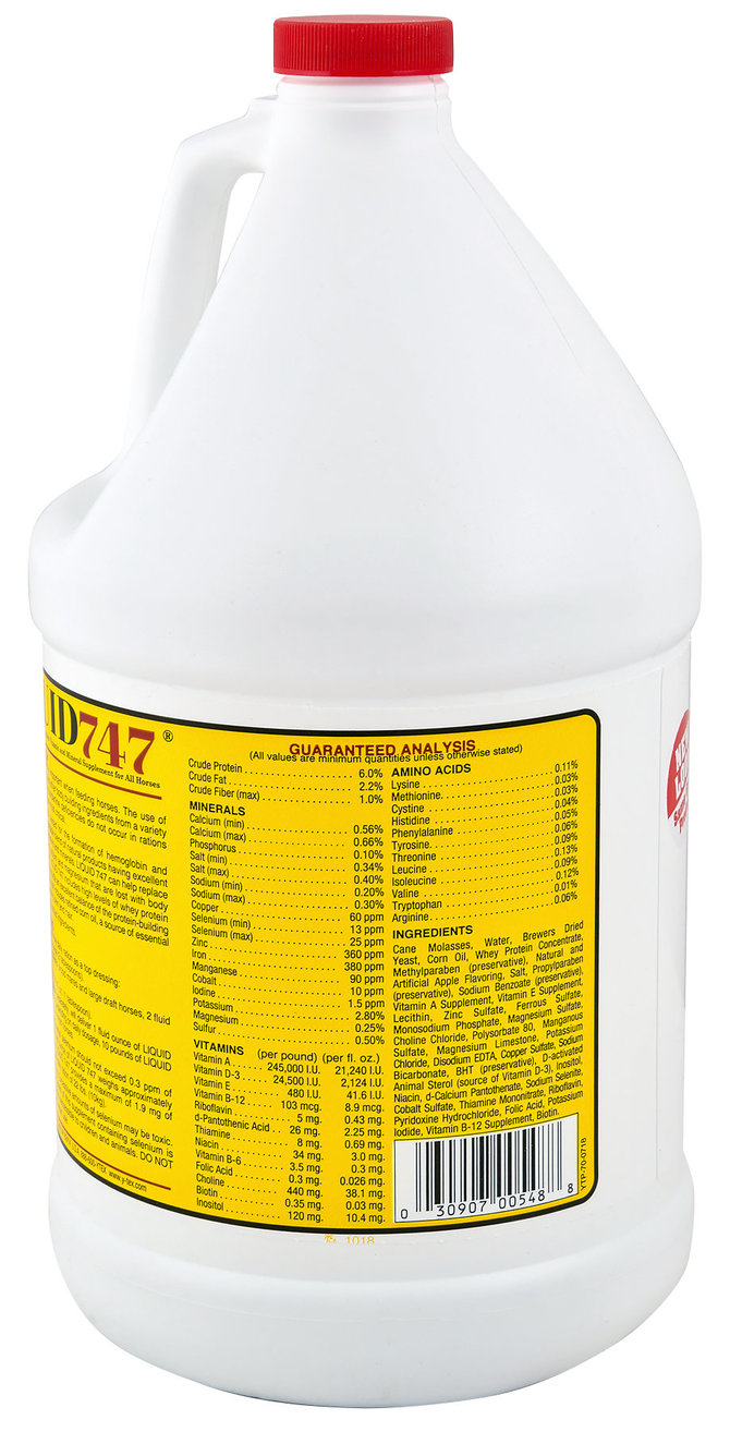 Liquid 747 Horse Feed High Vitamin Supplement, gallon | Jeffers Pet