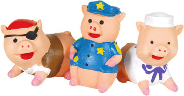 Little Piggies Latex Dog Toys, each (Assorted)