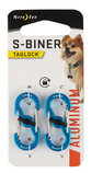 Locking Aluminum S-Biner, 2-pack