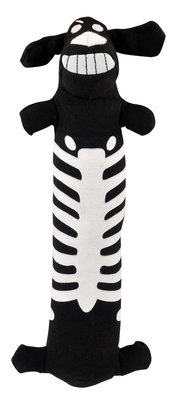 Loofa Dog Skeleton Halloween Dog Toy, 12""