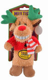 "Loofa Reindeer Dog Toys, 18"", Assorted"