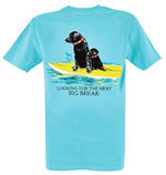 Looking For the Next Big Break T-shirt, Aqua