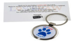 Lost Paw NFC Pet Parent Keychain, Red, White & Blue