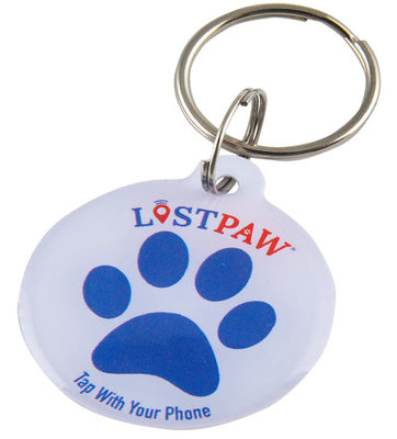 Lost Paw NFC Pet Tag, Red/White/Blue