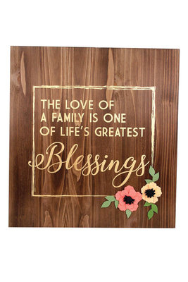 """Love of Family"" Wood Wall Art"