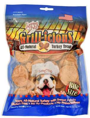Loving Pets Grill-icious Turkey & Sweet Potato Treats