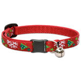 "1/2"" Lupine Christmas Cheer Cat Collar w/ Bell, 8"""