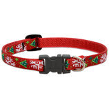 "Lupine 1/2""W Christmas Cheer Dog Collar"