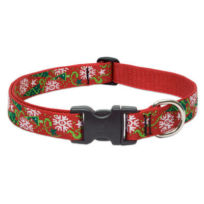 "16""-28"" Christmas Cheer Dog Collar, 1"" W"