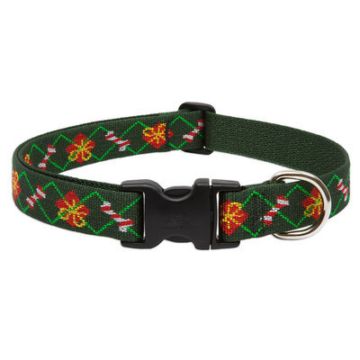 "9""-14"" Santa's Treats Christmas Dog Collars, 3/4""W"