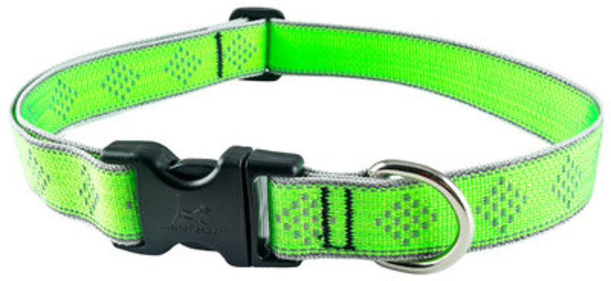 "Lupine High Lights Diamond Reflective Dog Collar, 1/2"" x 8 - 12"""