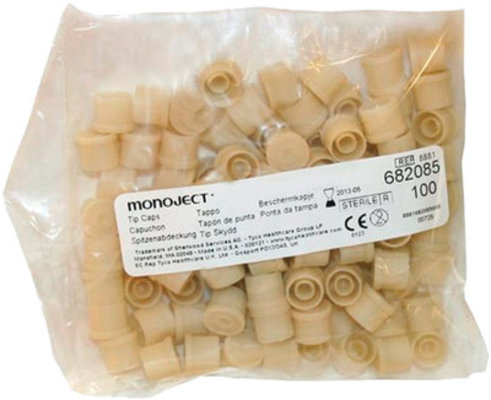 Monoject Luer Tip Caps, pack of 100