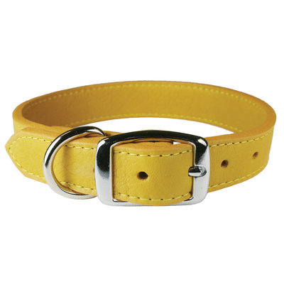 "Luxe Leather Dog Collars, 10""-14"""