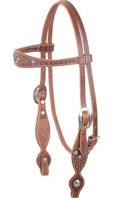 Martin Saddlery Diamond Dots Headstall