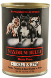 Maximum Bully Tender Chicken & Beef Cubes in Broth, 13.2 oz