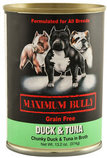Maximum Bully Chunky Duck & Tuna in Broth, 13.2 oz