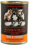 Maximum Bully Tuna & Shredded Chicken in Broth, 13.2 oz