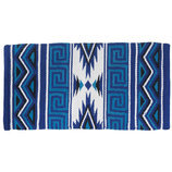 "Mayan Navajo Wool Saddle Blanket, 36"" x 34"""
