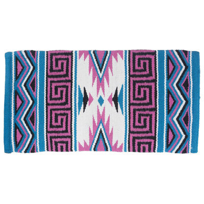 "Mayan Wool Navajo Saddle Blanket, 36"" x 34"""