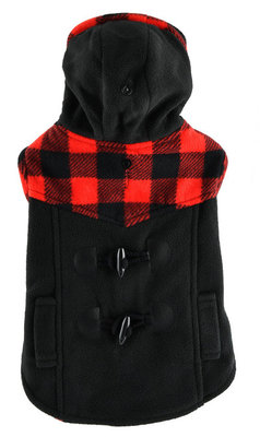 Medium, Plaid Trim Dog Coat