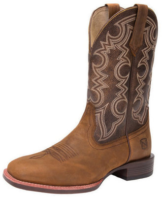 Men's All-Around Square Toe Authentic Boot, Brown/Pumpkin