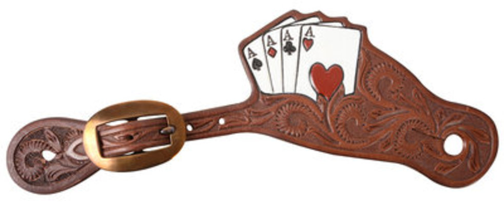 Mens Classic Equine Tombstone Spur Straps