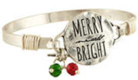"""Merry & Bright"" Bangle Bracelet"
