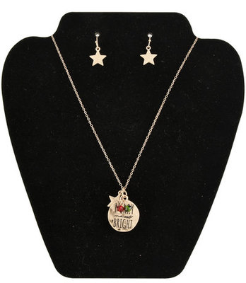 """Merry & Bright"" Necklace & Earring Set"