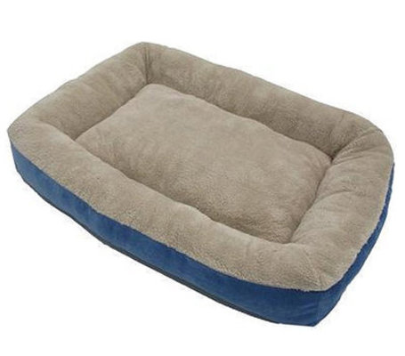 "Micro Luxe Low Bumper Pet Bed, 40"" x 30"""